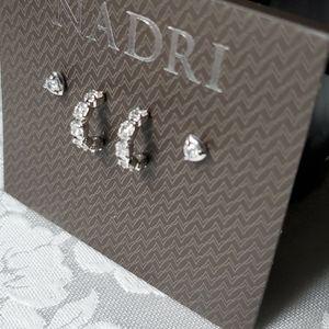 Nadri Rhodium Plated Sterling Silver Set